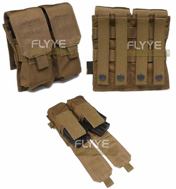 FLYYE Double M4 Mag MOLLE Pouch for 4 Mag.