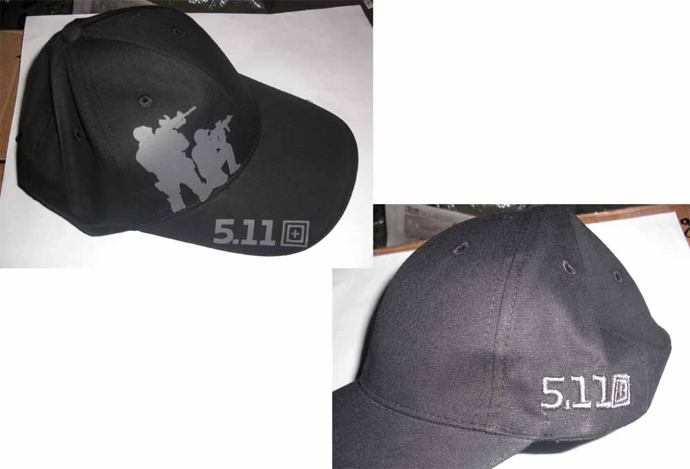 5.11 Style Tactical Baseball Cap - Black Shooting