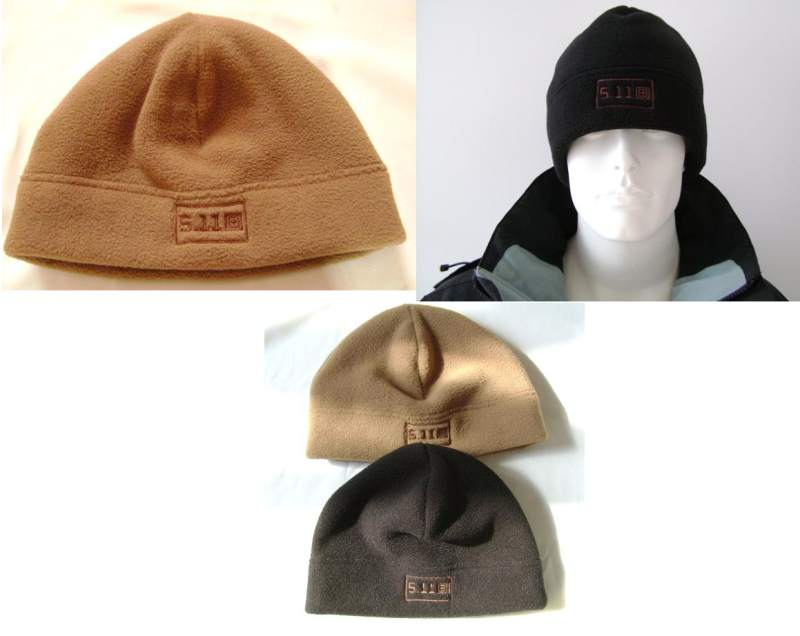 5.11 Style Wool Fleece Hat - Brown