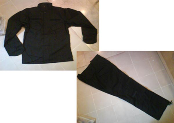 Black Shirt Pants set - CP style