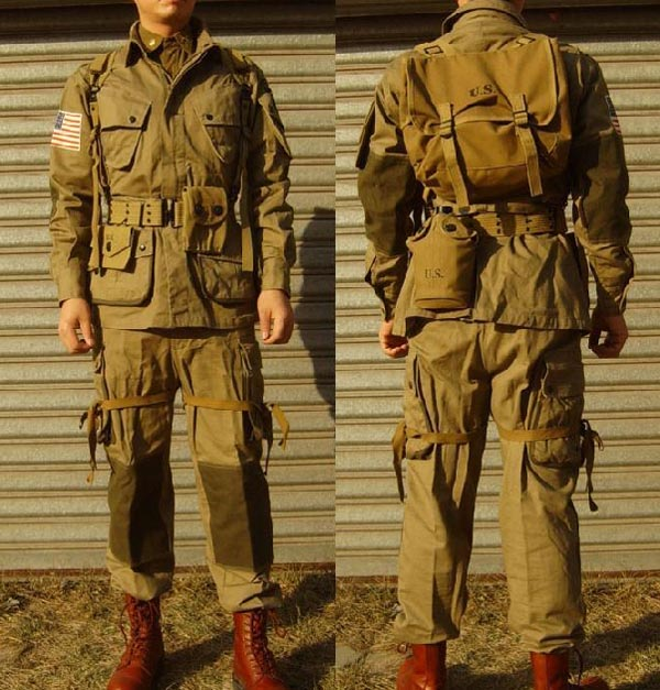 US M42 M1942 Airborne Paratroop Suit Shirt Pants Set