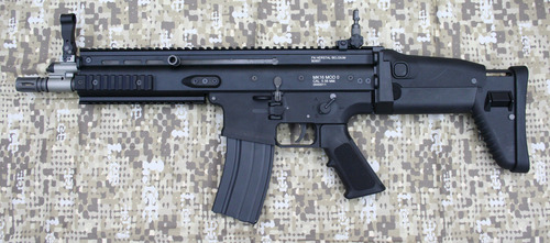 WE SCAR-L Gas Blow Back GBB Rifle - Black