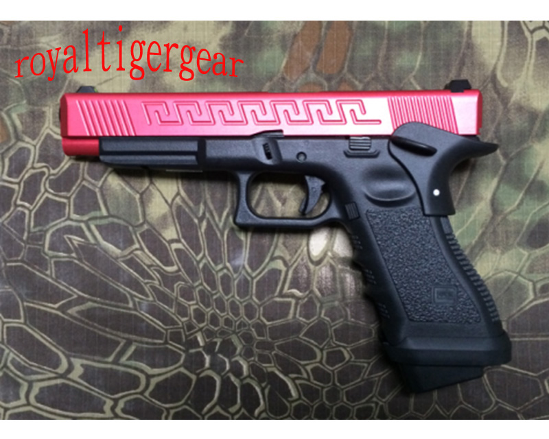 ARMY R34 – GLOCK 34 G34 GBB Pistol CNC Slide w/ Rail - Red Black