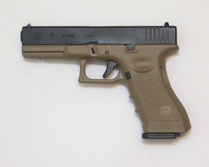 ARMY R17 – GLOCK 17 GBB Pistol w/ Rail - Dark Earth