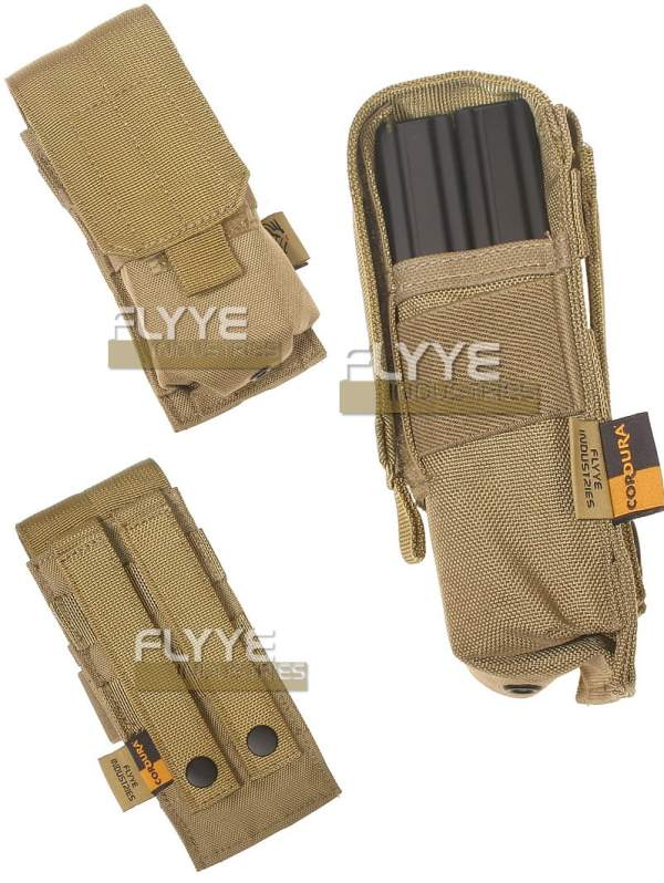 FLYYE Single M4 Mag MOLLE Pouch for 2 Mag.