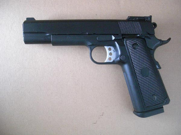 WELL M1911 Matt Black - Top Gas GBB Metal Pistol