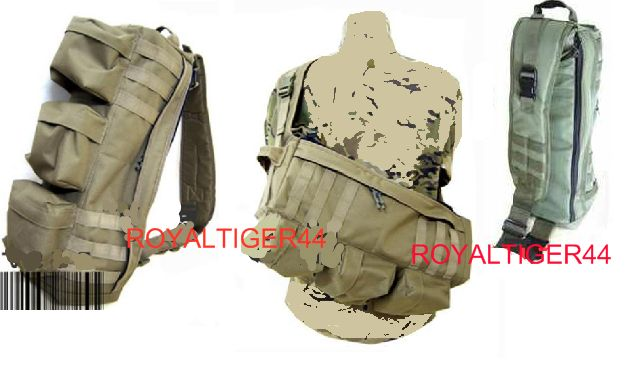 Assault Tactical Go Bag MOLLE Shoulder Pack - Tan