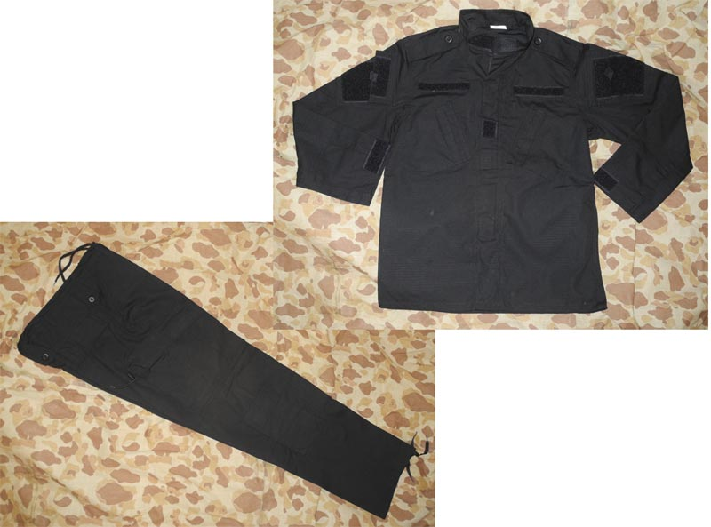 Black Shirt Pants set - ACU style