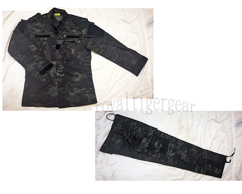 Multicam Black Ghost Night Law Enforcement Camo Shirt Pants set