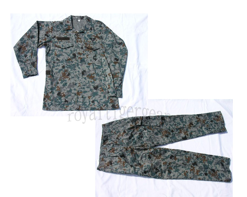 Japan Air Self-Defense Force JASDF SPECKLED Camo Shirt Pants Set
