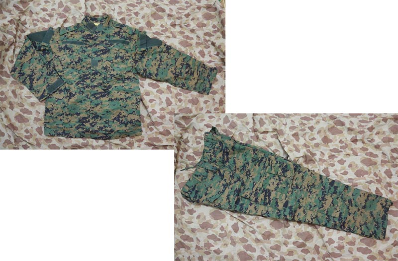 USMC MARPAT Digital Woodland Shirt Pants set  - ACU style - Rip-Stop