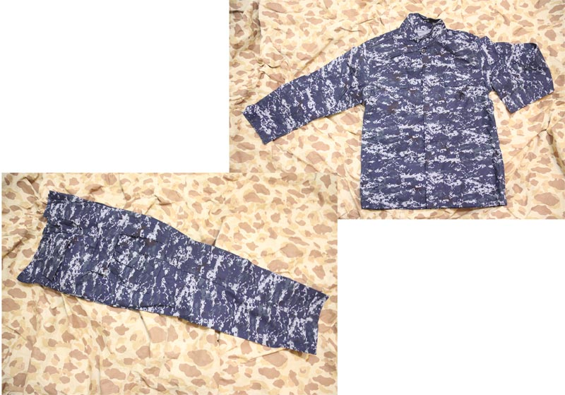 US Navy Digital Blue Camo Shirt Pants set