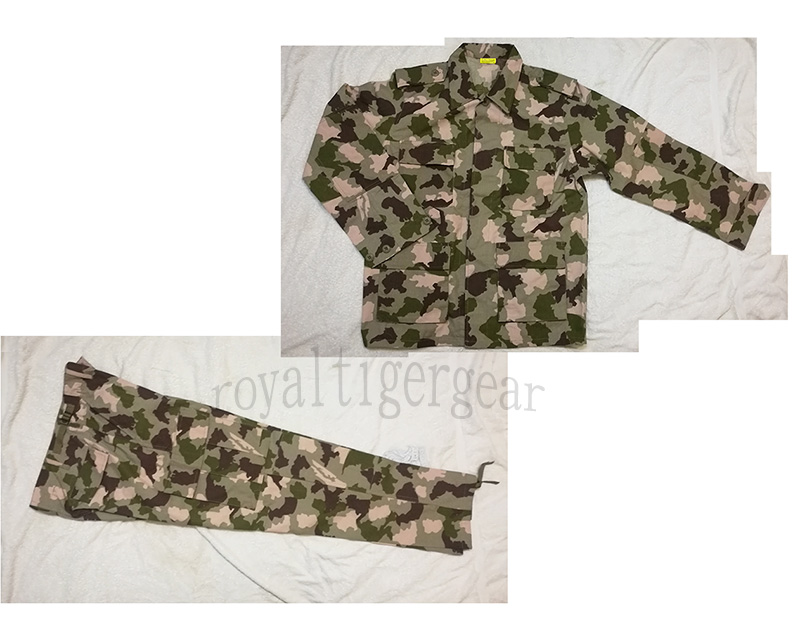 Africa Nigeria Army Desert Camo Camouflage Shirt Pants BDU Set