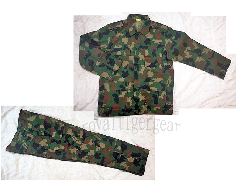 Africa Nigeria Army Woodland Camo Camouflage Shirt Pants BDU Set