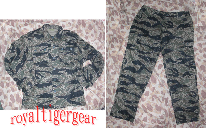 Vietnam Tiger Stripe Tadpole Dense Shirt Pants - Exposed Button version