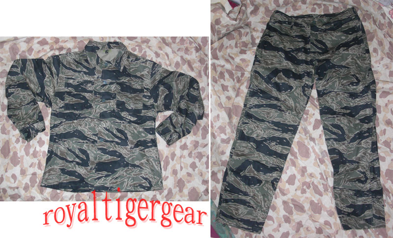 Vietnam Tiger Stripe Tadpole Dense Shirt Pants - Hidden Button version