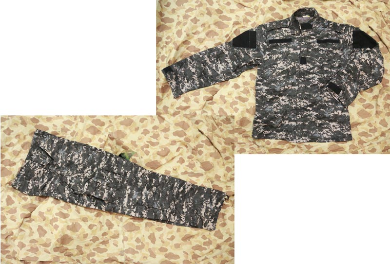 Digital Urban Camo Shirt Pants set - ACU style