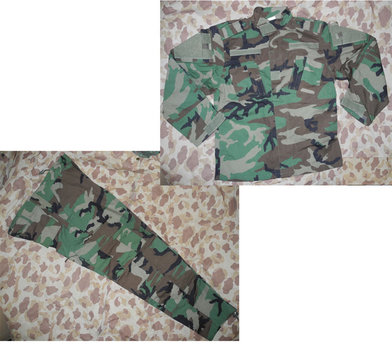 US Woodland M81 Camo Shirt Pants set - ACU style