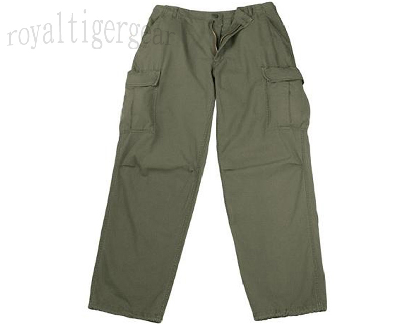 US Vietnam 3rd Pattern Rip-Stop Jungle Fatigue Pants Bottom