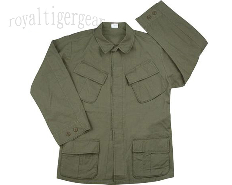 US Vietnam 3rd Pattern Rip-Stop Jungle Fatigue Shirt Top