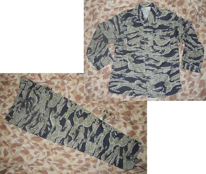 Vietnam Tiger Stripe TigerStripe Tadpole Sparse Camo Fatigue Shirt Pants Set