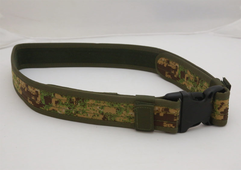 Tactical Duty Belt - Dot Woodland Camo - CORDURA