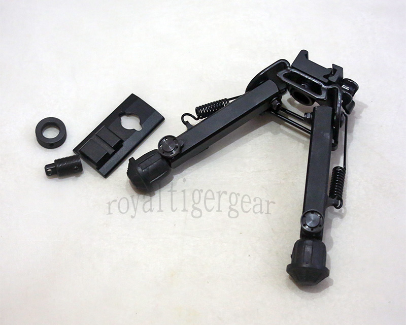"UTG style Rifle Folding Bipod 6"" to 8.5"" – Picatinny Rail QD / Swivel Stud Mount"