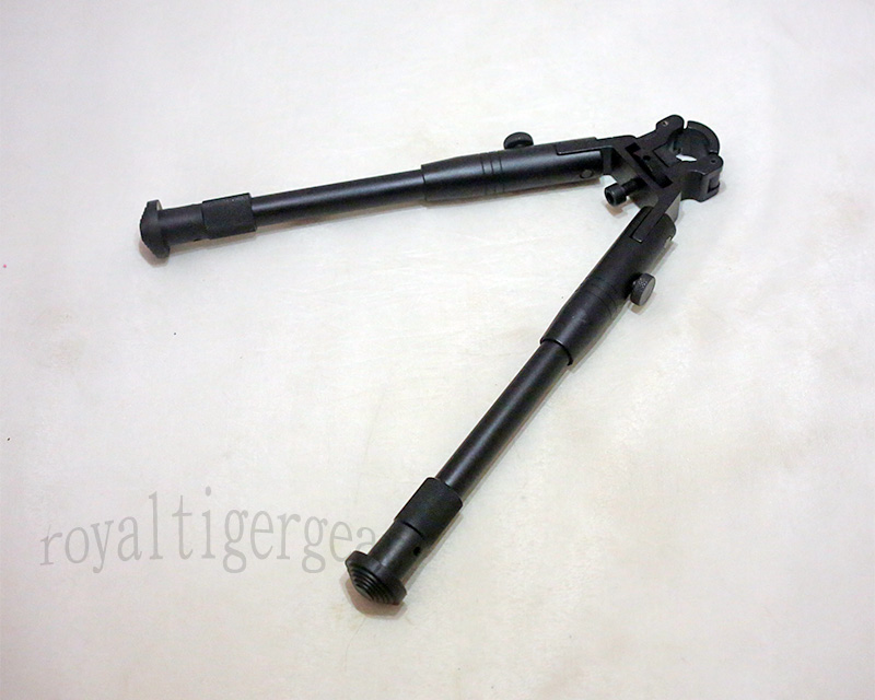 8 1/2 – 10 inch Adjustable Folding Rifle Bipod – Connect to Barrel