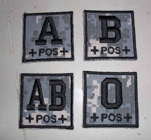 Blood Type Square Patch - ACU