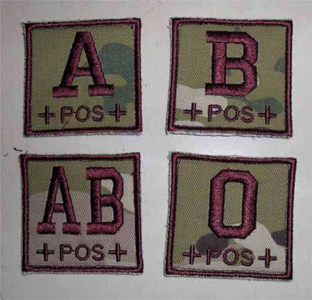 Blood Type Square Patch - Multicam MC