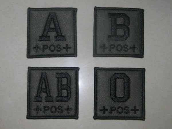 Blood Type Square Patch - OD
