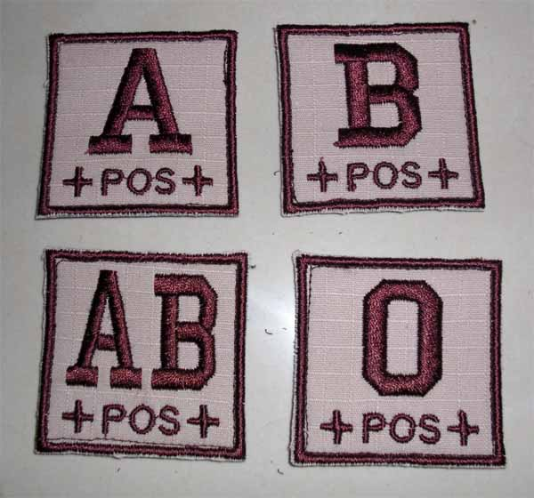 Blood Type Square Patch - Tan