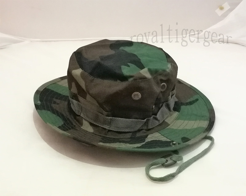 US M81 Woodland Woodland Camo Boonie Bush Hat – Ver.Button