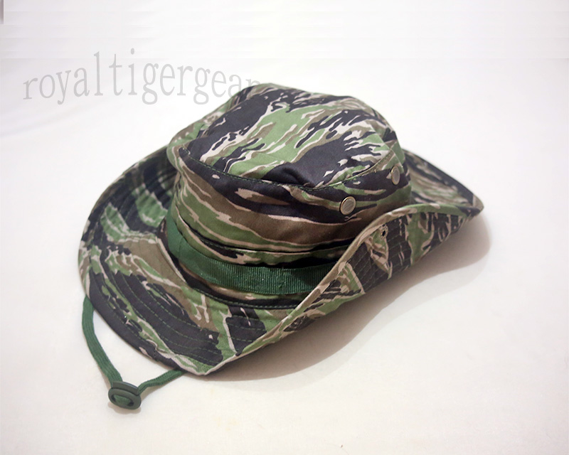 Modern Tiger Woodland Camo Boonie Bush Hat – Ver.Button