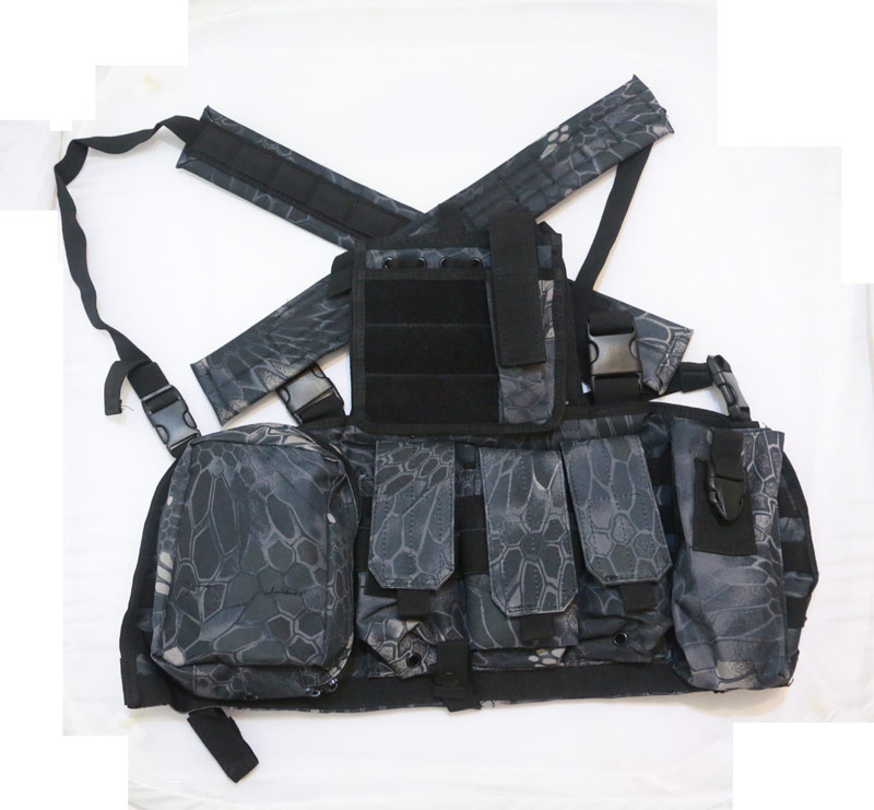 Tactical Chest Rig with pouches - Python Snake Camo - TYP Night Urban Marines