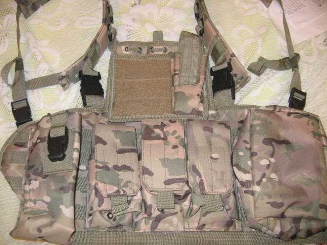 Tactical Chest Rig with pouches - Multicam MC