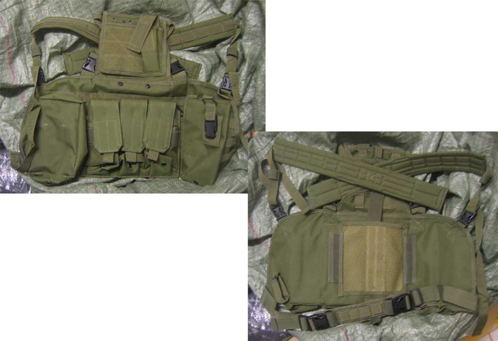 Tactical Chest Rig with pouches - OD