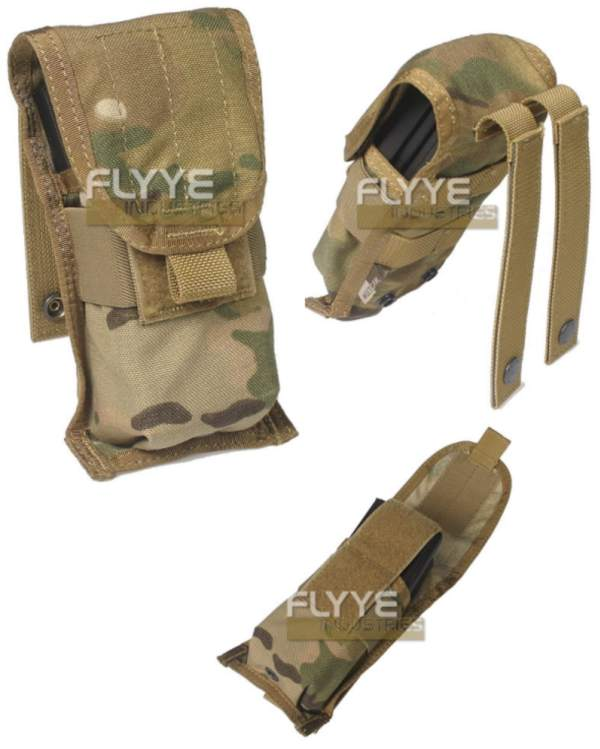 FLYYE Single M4 Mag MOLLE Pouch for 2 Mag. - Ver. FE - A-TACS ,  A-TACS/FG