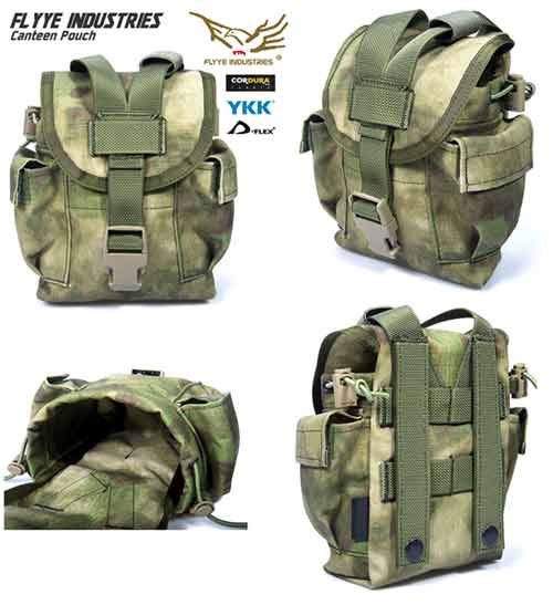 FLYYE MOLLE 1L Water Tank Canteen Bottle Pouch ver.FE - A-TACS AU, A-TACS FG