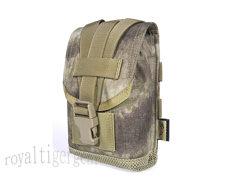 FLYYE MOLLE 1L Water Tank Canteen Bottle Pouch - A-TACS , A-TACS/FG