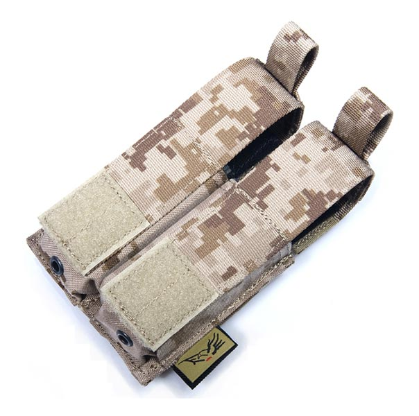 FLYYE Double .45 Pistol Mag. MOLLE Pouch - AOR1 , AOR2