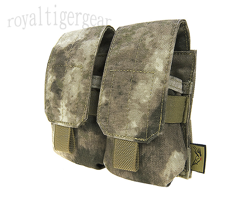FLYYE M14 SR-25 M110 Mk 11 Mod 0 Double 7.62mm 20 Rds Mag MOLLE Pouch - A-TACS AU, A-TACS FG