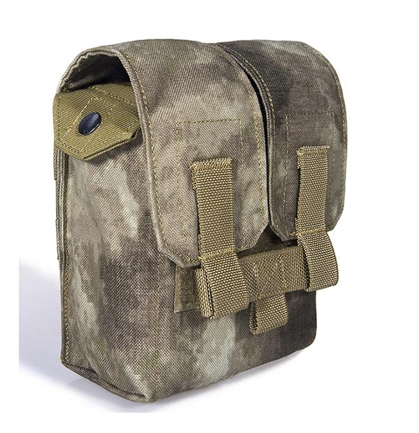 FLYYE SAW M249 200 Round Mag MOLLE Pouch - A-TACS , A-TACS/FG