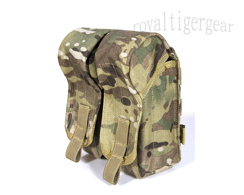 FLYYE Double AK Mag Ammo MOLLE Pouch for 6 Mag - MultiCam®