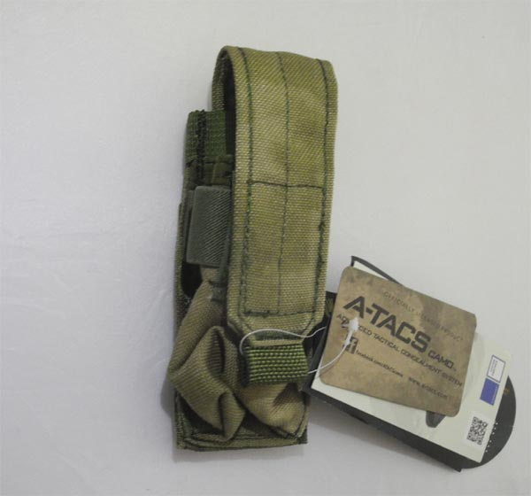 FLYYE Single 9mm Mag MOLLE Pouch Ver.FE - A-TACS , A-TACS/FG