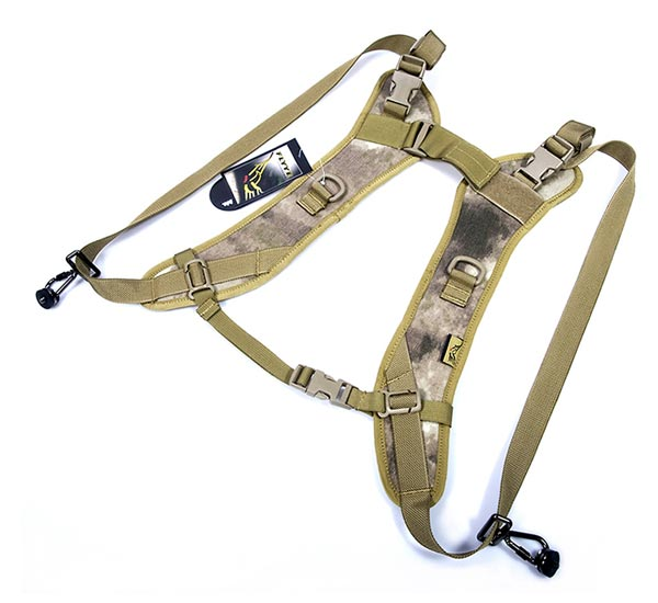 FLYYE Dual Camera Straps w/ ARC D-ring - A-TACS , A-TACS/FG