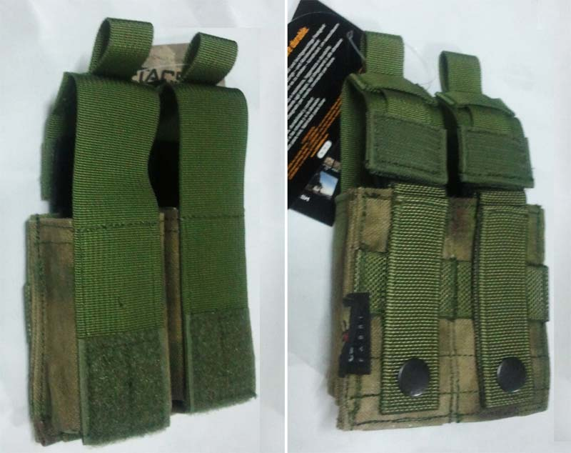 FLYYE Double .45 Pistol Mag. MOLLE Pouch - A-TACS , A-TACS/FG
