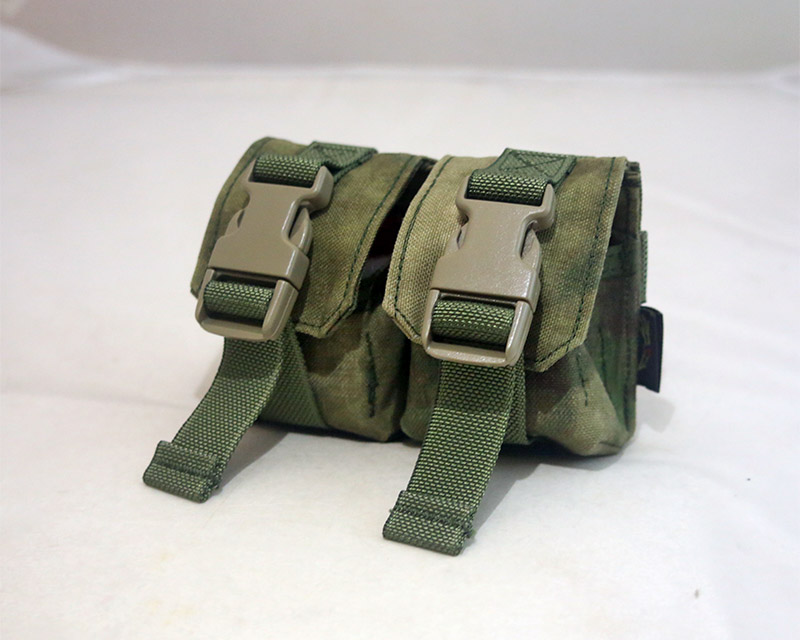 FLYYE Double Twin Fragmentation Grenade MOLLE Pouch -  A-TACS , A-TACS/FG