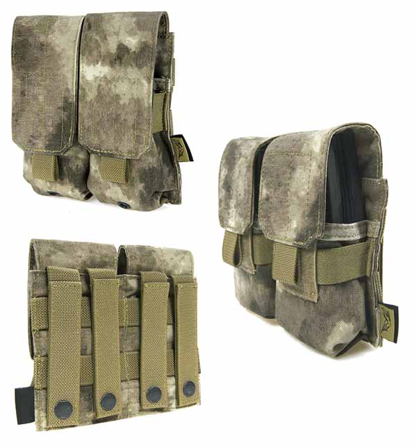 FLYYE Double M4 Mag MOLLE Pouch for 4 Mag. -  A-TACS , A-TACS/FG