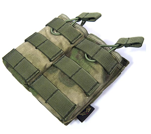 FLYYE Stacker EV Universal Double Mag MOLLE Pouch - A-TACS , A-TACS/FG